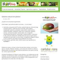Golosina natural de plátano