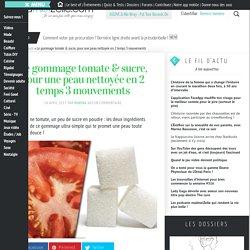 Gommage naturel pour la peau au sucre et à la tomate