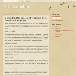Eric Gonchar : Understand the process of renting in USA from Eric P. Gonchar