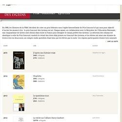 Prix : Goncourt - Lycéens. Prix littéraires sur Babelio.