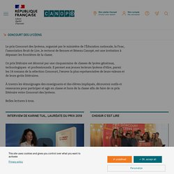 Goncourt des lycéens - Réseau Canopé