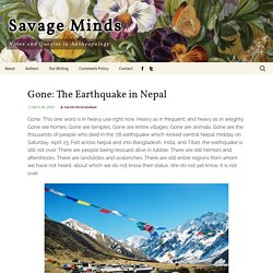 Gone: The Earthquake in Nepal