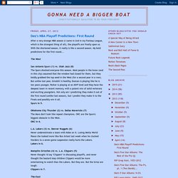 Gonna Need a Bigger Boat: April 2012