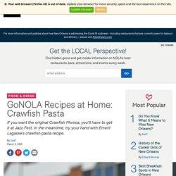 Recipes at Home: Crawfish Pasta