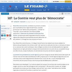IdF: La Gontrie veut plus de 'démocratie'