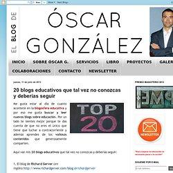 20 blogs educativos que tal vez no conozcas y deberías seguir