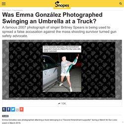 Was Emma González Photographed Swinging an Umbrella at a Truck?