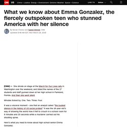 Emma Gonzalez profile: What you need to know about the Marjory Stoneman Douglas student