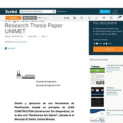 Jorge Gonzalez Research Thesis Paper UNIMET