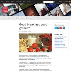 Good breakfast, good grades?