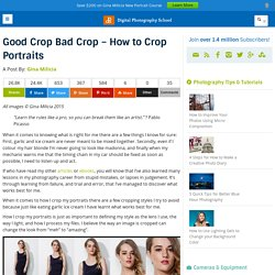 Good Crop Bad Crop - How to Crop Portraits