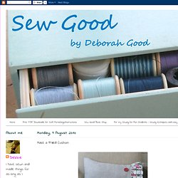 Sew Good by Deborah Good: Make a Frilled Cushion