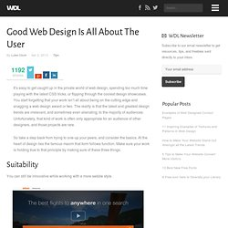 Good Web Design Is All About The User
