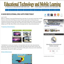 6 Good Educational iPad Apps Free Today
