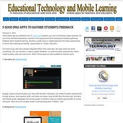 5 Good iPad Apps to Gather Students Feedback