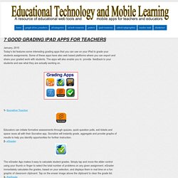 Educational Technology and Mobile Learning: 7 Good Grading iPad Apps for Teachers