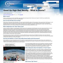 Good Up High Bad Nearby - What is Ozone?