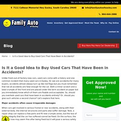 Is It a Good Idea to Buy Used Cars That Have Been in Accidents?