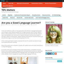 Are you a Good Language Learner?