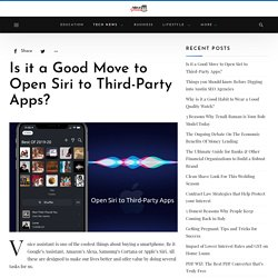 Apple App Store – Open Siri to Third Party Apps