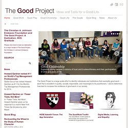 Our Space: Being a Responsible Citizen of the Digital World | The GoodWork Project
