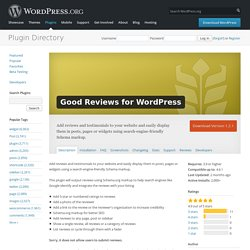 Good Reviews for WordPress — WordPress Plugins