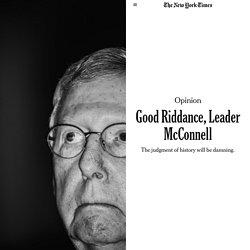 Good Riddance, Leader McConnell