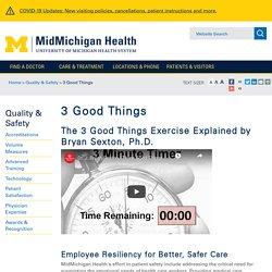 3 Good Things - MidMichigan Health