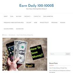 Good Ways To Save Money
