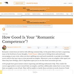"""How Good Is Your """"Romantic Competence""""?"""