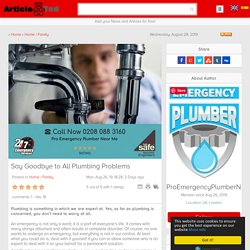 Say Goodbye to All Plumbing Problems Article