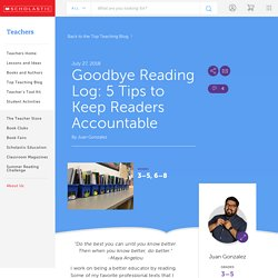 Goodbye Reading Log: 5 Tips to Keep Readers Accountable