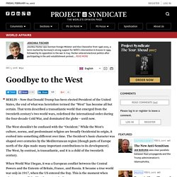 Is this the end of the West, asks Joschka Fischer