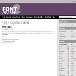Download Hundreds of Free @font-face Fonts