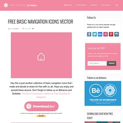 Free PSD Goodies and Mockups for Designers: FREE BASIC NAVIGATION ICONS VECTOR