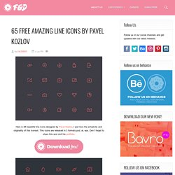 Free PSD Goodies and Mockups for Designers: 65 FREE AMAZING LINE ICONS BY PAVEL KOZLOV