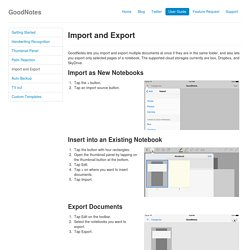 GoodNotes - Import and Export