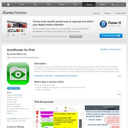 GoodReader for iPad for iPad on the iTunes App Store