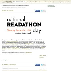 Goodreads Voice: National Readathon Day