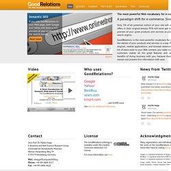 GoodRelations: The Web Ontology for E-Commerce