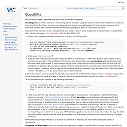 GoodURIs - ESW Wiki