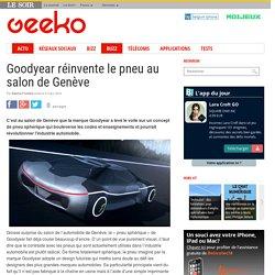 Goodyear réinvente le pneu au salon de Genève