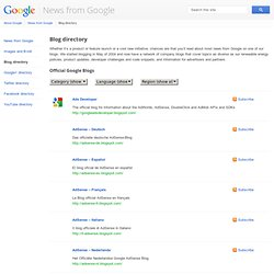 Blog directory – News from Google – Google