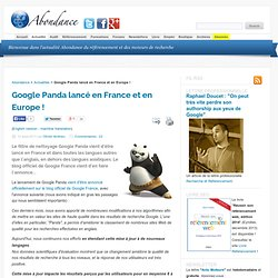 Google Panda lancé en France et en Europe !