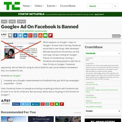 Google+ Ad On Facebook Is Banned