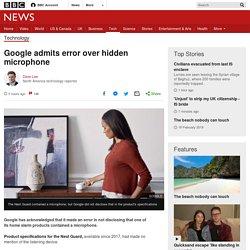 Google admits error over hidden microphone