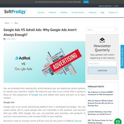 Google Ads VS Adroll Ads: Why Google Ads Aren't Always Enough