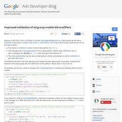 Google Ads Developer Blog