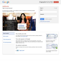 Google AdWords - Pay-Per-Click Online Advertising