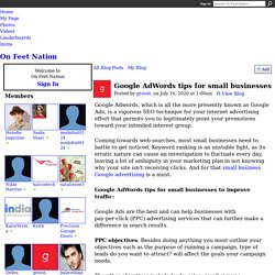 Google AdWords tips for small businesses